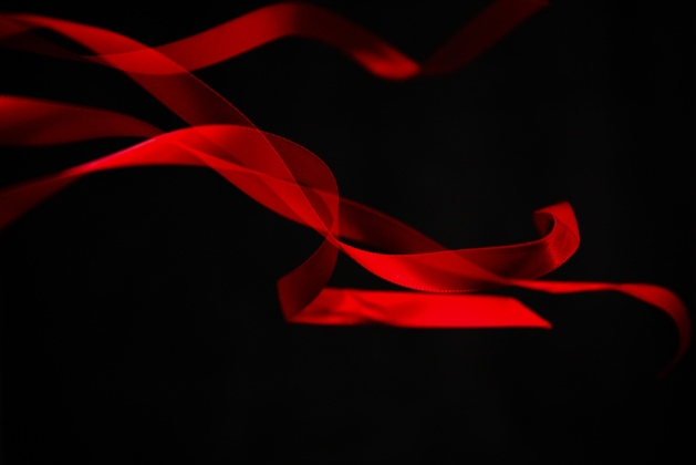 pretty red ribbon