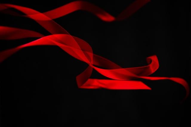 pretty red ribbon