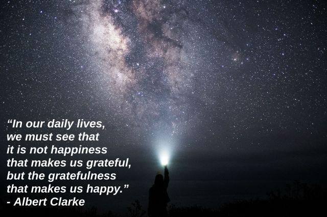 Albert Clarke quote gratitude
