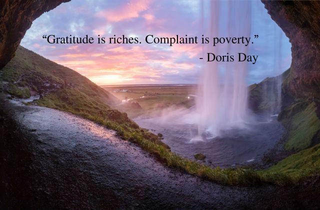 Doris Day quote gratitude