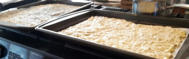 quinoa cracker batter
