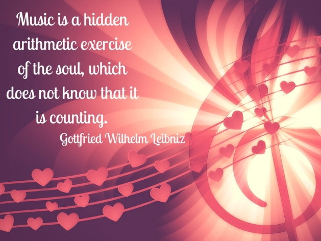 Gottfried Wilhelm Leibniz quote - music and arithmetic