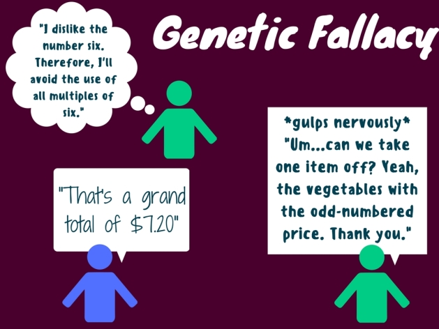 genetic fallacy illustration