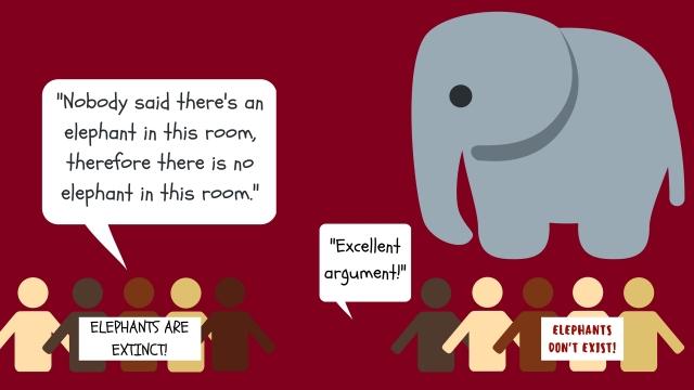 argumentum ex silentio fallacy illustration