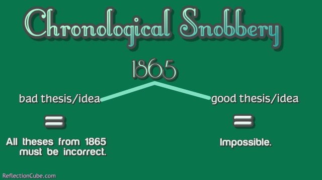 chronological snobbery fallacy illustration