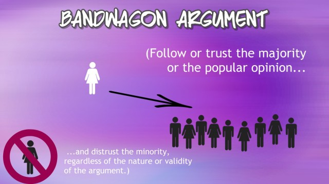 bandwagon argument illustration