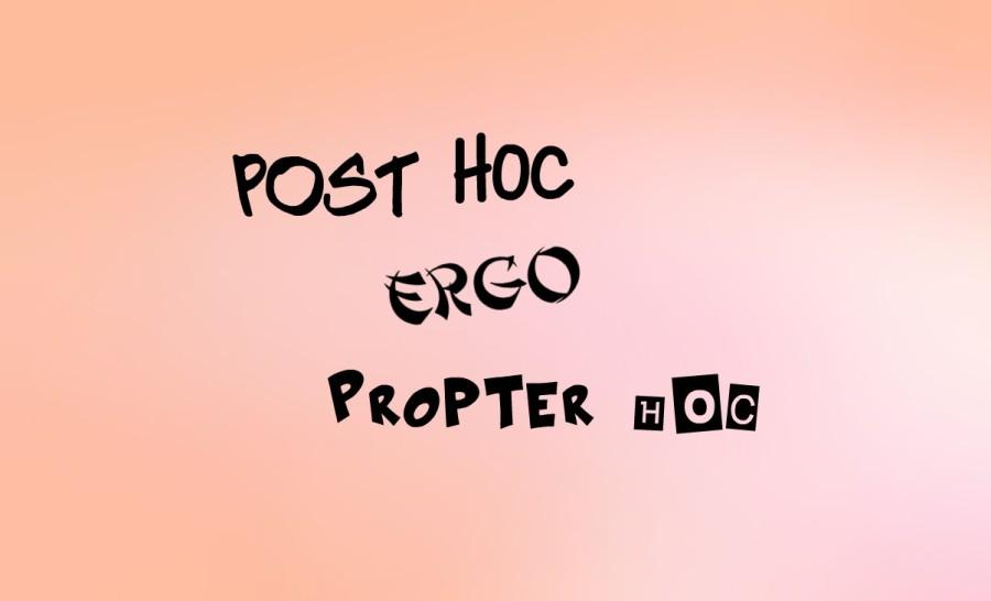 post hoc ergo propter hoc fallacy