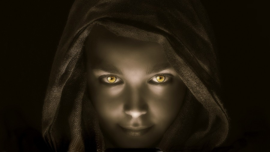hooded woman in shadows - INTP shadow - ENTJ