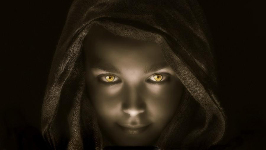 hooded woman in shadows - INTP shadow - ENTJ